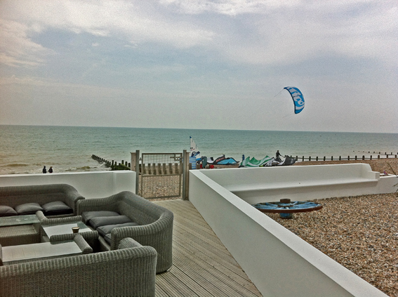 Kite Surfing at The Angmering on Sea Beach House